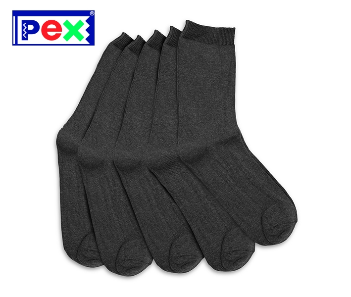 Boys/Youths Grey Ankle Sock (5 Pack)