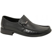 Dubarry Boys Slip-On Black School Shoe Karl  (Black Leather)