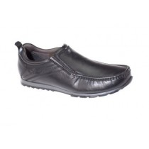 Dubarry Gents Slip-On Black School Shoe KOBE  (Black Leather)