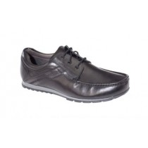 Dubarry Gents Laced Black School Shoe KAGAN  (Black Leather)