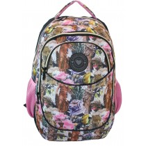 Girls school Backpack - Freelander 31F862 Oval Pink Flower