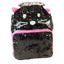 Girls School Backpack - Freelander 34F297 Black Cat