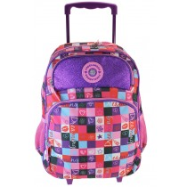 Freelander Mixed Check Trolley Backpack