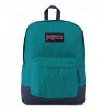 Jansport School Bags-SuperBreak Blue Combo 25L