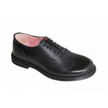 Girls School Shoes-Petasil-Donna (Black)