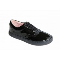 Girls School Shoes-Petasil-Payle (Black Leather)