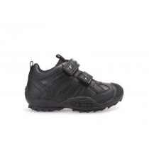 Geox Boys Sneaker-Savage Black J0324G (Black Leather)