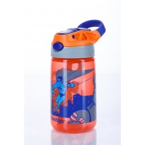 Contigo Water Bottle - Kids Gizmo Flip 420ml - Tangerine Super Hero