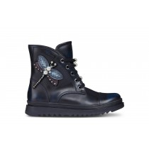 Geox Girls Half Boot 'J Gillyjaw' Navy