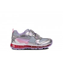 Geox Girls Runner 'J Android' Dk Silver/Lilac
