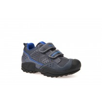 Geox New Savage Boys Navy Royal Casual Shoe