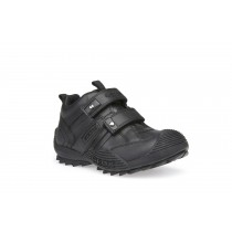 Geox Savage Boys Black School Shoe/Sneaker