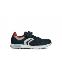 Geox Boys Trainers | Alfier | Navy-Red