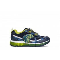 Geox Boys Trainers | Android | Navy-Lime | Lights