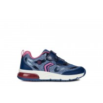 Geox Girls Trainers | Spaceclub | Navy/Fuchsia