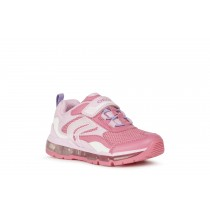 Geox Girls Light-Up Trainer | J ANDROID | Fuchsia Pink