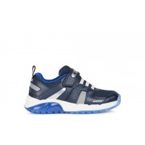 Geox Boys Light-Up Trainer | J SPAZIALE | Navy Royal