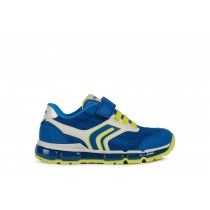 Geox Boys Trainer | ANDROID lights | Royal/Lime