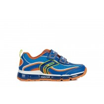 Geox Boys Trainer | ANDROID lights | Royal/Orange