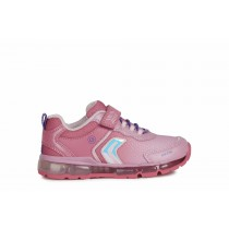 Geox Girls Trainer | ANDROID lights | Fuchsia
