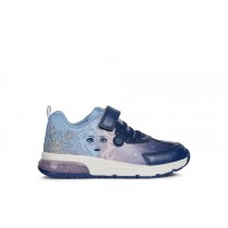 Geox Girls Sneaker | SPACECLUB lights | Navy/Lilac