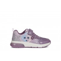 Geox Girls Sneaker | SPACECLUB lights | Pink/Mauve