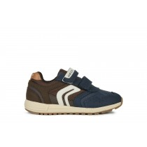 Geox Boys | J ALBEN | Suede Navy/Brown