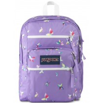 JanSport Big Student School Bag | Purple Dawn Butterfly