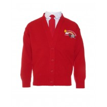 St Joseph's Co-Ed N/S Girls Red Cardigan