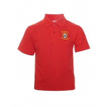 St.Fintans Red Crested Poloshirt
