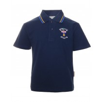St.Patricks Navy Crested Poloshirt