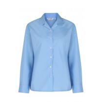 Girls Blue Revere Blouse Non-Iron 2pk